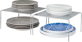 mDesign étagère cuisine (lot de 2) – rangement cuisine autoportant en métal – petit range vaisselle de cuisine pour tasse...