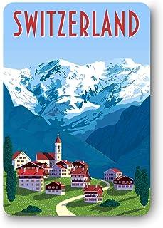 Giftcart Switzerland Fridge Magnet for Kitchen 9 x 6 cm Multi Color (Souvenir)