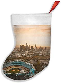 PUVBAFH Aerial View of The Dodgers Stadium Adult Christmas Holiday Socks Warm Winter Cozy Socks Fuzzy Socks