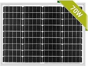 Newpowa 70W Mono Solar Panel 70 Watts Monocrystalline for RV,Boat,Home Off Grid System with MC4