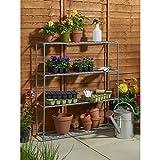 Serra con mensola sosta–ideale per propagazione di sementi, pianta crescere e display.