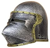 Jacobson Hat Company Kid's Plastic Medieval Knight Helmet w/Flip Up Mask, Gray, One Size