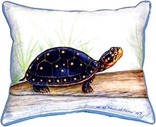 "Betsy Drake SN286 Spotted Turtle Pillow, 11"" x14"""