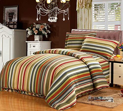 Colcha Cama Acolchada Patchwork Doble King Size Impreso Edredón Tirar Cubrecamas De 3 Piezas,Stripe-Double-230x250cm+50x70cm