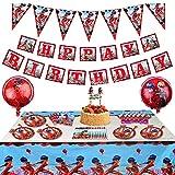 Ladybug Birthday Party Set - Miraculous Ladybug Party Decorations Supplies Ladybug Balloons for Girls Birthday Party Baby Shower