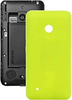 Practical Convenient Spare Parts Compatible with Nokia Lumia 530//M-1018/RM-1020 Solid Color Plastic Battery Back Cover Replacement Parts (Color : Yellow)