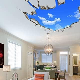 U-Shark 3D Self-Adhesive Removable Break Through The Wall Vinyl Wall Stickers/Murals Art Decals Decorator (Blue Sky(27.6