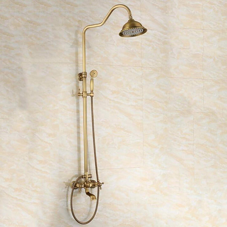 Bathroom Shower Taps Set All Copper Shower Shower Set Bathroom With Lift Shower Hand-Held Sprinkler Cold And Hot Faucet