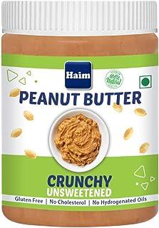 HAIM All Natural Peanut Butter Crunch (Unsweetened) (Vegan, Gluten Free, Non-GMO ) 400 g