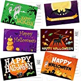 36PCS Halloween Postcards 6 Designs for Kids Friends Family Fun Greeting Cards