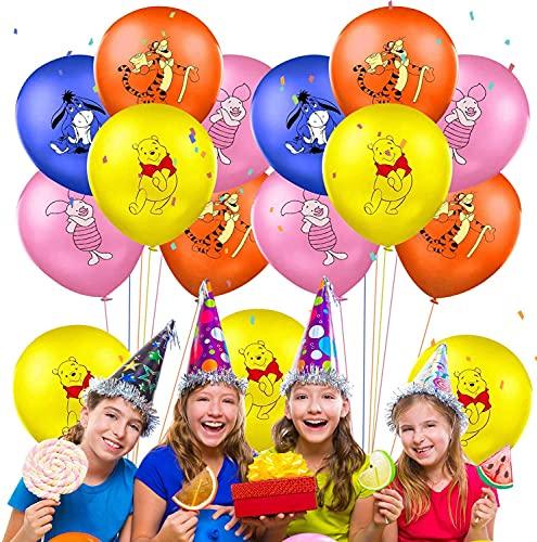 FGen 50 Pcs Luftballons, Latex Balloons,Dekorationsballons,Winnie Puuh Ballon für Kinder Erwachsenen Birthday Decoration Carnival Partythemen