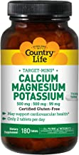 Country Life Target-Mins - Calcium Magnesium Potassium, 500mg/500mg/99mg - 180 Tablets