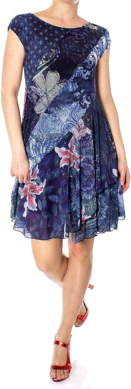 Desigual Women's 19SWVKAXblueE bluee Polyamide Dress