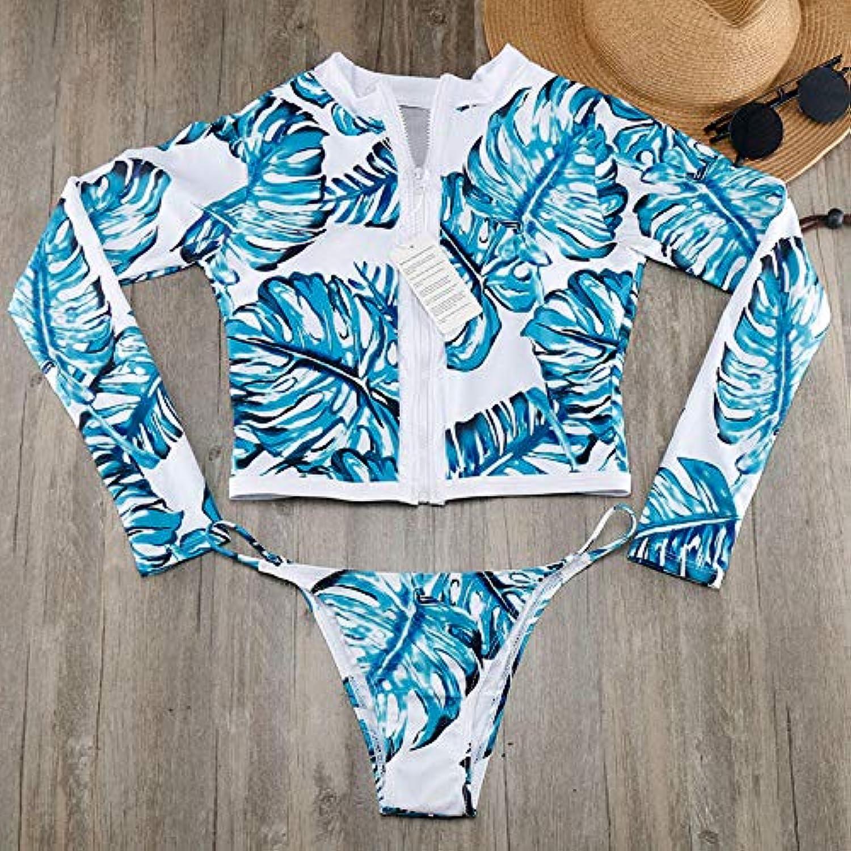 HITSAN Green Bikinis Set Brazilian Sports Beach Bikini Swimwear Swimsuits Geometric Bathing Suits High Neck Swimsuit Biquine E634 color K25 AWS Long Sleeve Size XL