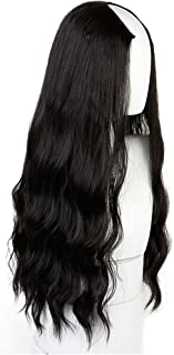 Chibi-store Long Wavy Curly U-Shaped Half Wig for Women 24