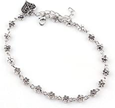 Charms Silver Alloy Anklet For Girls