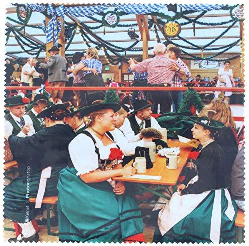 La Kelnet microvezeldoek voor de bril - Oktoberfest - feesttent bij dans en smuis - geschikt voor alle optische oppervlakken (18,5 x 18,5 cm) - wasbaar