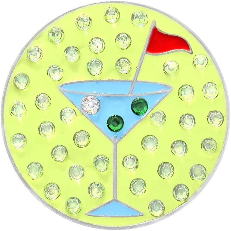 Navika Martini Golf Ball Marker Crystal Swarovski Encrusted with Manufacturer OFFicial Jacksonville Mall shop