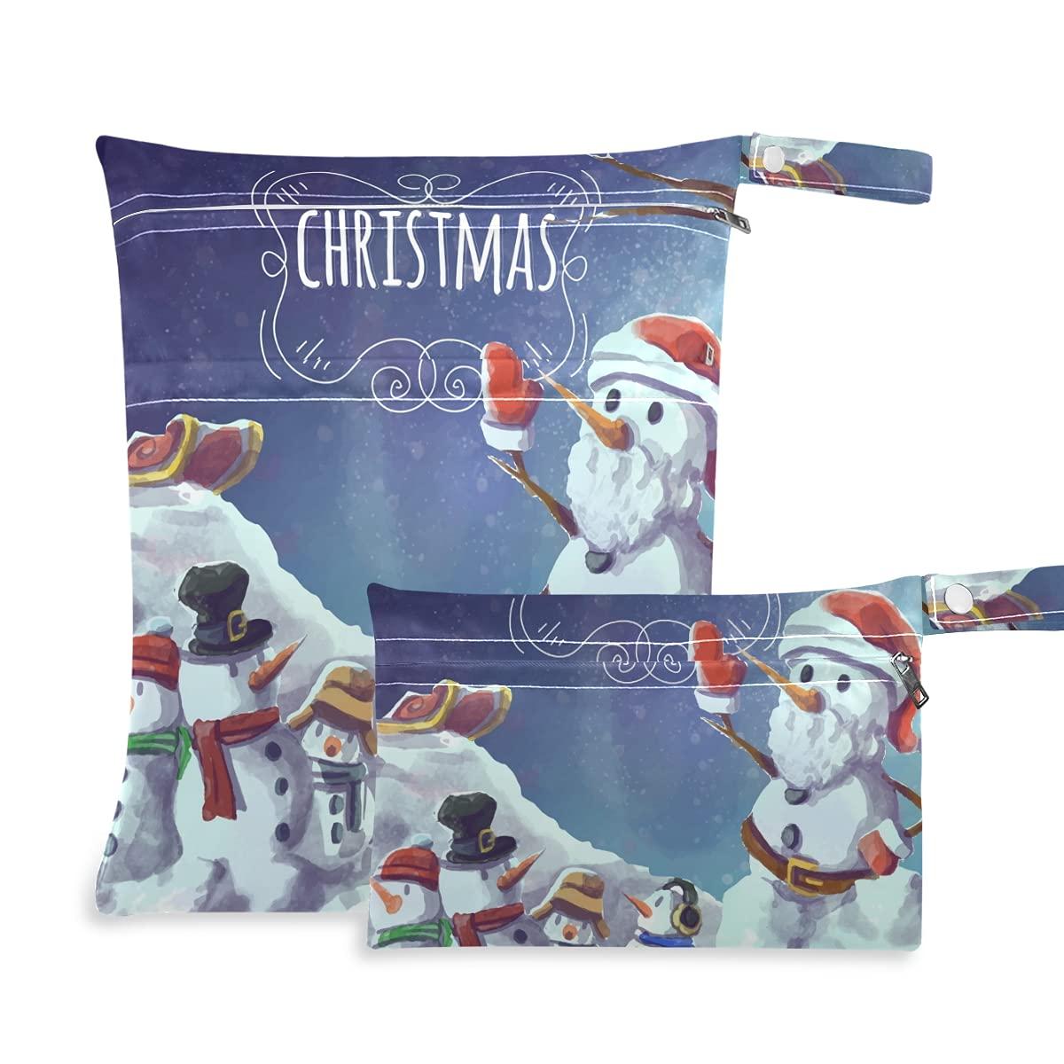 Snowman Tress Christmas Ultra-Cheap Deals Wet Dry Reusable shipfree Bag for Diaper