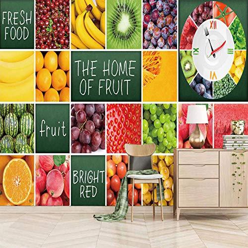 Fotomurales Fruta 3D Pegatinas De Pared Para - Dormitorio Sala De Estar Cocinas Arte De La Pared Decoración Poster 250X175Cm