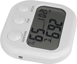 Lätt att installera bärbar digital hygrometertermometer Lättanvänd termometer Väckarklocka Lätt vikt Rostskyddad termohygo...
