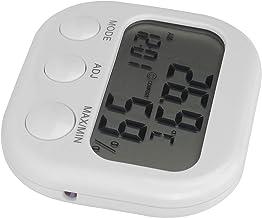 Emoshayoga Termómetro Despertador Fácil de Instalar Resistente al óxido Resistente al Desgaste Termómetro-higrómetro de Peso Ligero Higrómetro Digital portátil Termómetro para el hogar