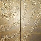 oro remolino Abstracto A633 - díptico industrial con textura, arte original, pinturas abstractas con textura del artista Ksavera