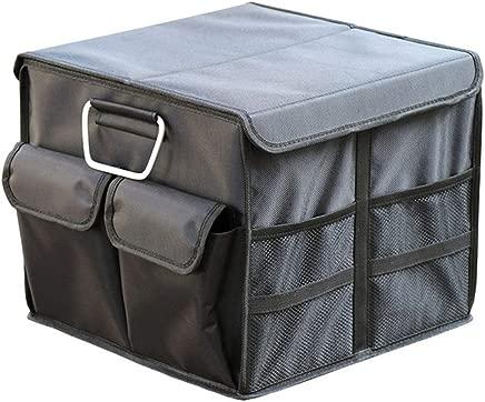 OFAY Car Storage Box -Environmental Plastic Multi-Function Double Layer Trunk Storage Box  Car Home Storage Black 36L