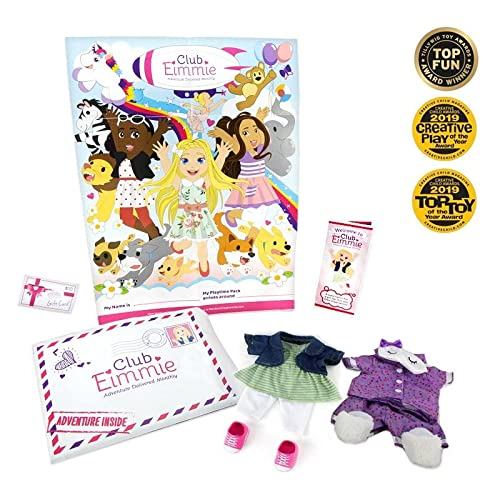 """Club Eimmie - 18"""" Doll Accessory Monthly Subscription w/Dress Your Doll Intro Pack"""