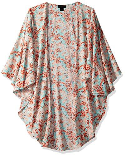Steve Madden Women's Spring Breeze LUX Kimono Accessory, Seafoam, One Size