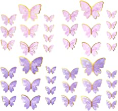 KESYOO 36pcs Butterfly Birthday Cake Topper Paper Butterfly Cake Toppers Animal Cupcake Topper Baking Dessert Wedding Part...