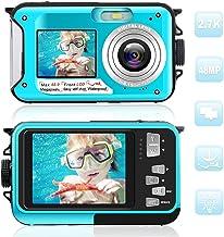 デジカメ 防水 防水カメ水中カメラ デジタルカメラ HD1080P 48.0MP デュアルスクリーンオートフォーカス デジカメ 3m防水機能 水に浮く 日本語説明書付き