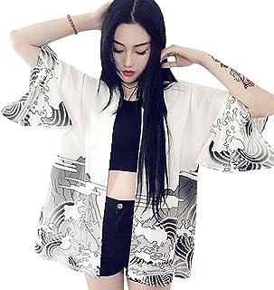 G-Like Women Japanese Kimono Cardigan - Autumn Harajuku Ancient Style Bathrobe Cardigan Sunscreen Clothes Pajamas Jacket F...