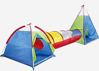 Kidodo Tienda de campaña 3 en 1 con túnel, para niños y niñas, bebés y niños pequeños, casa de Juegos para Interiores y Exteriores