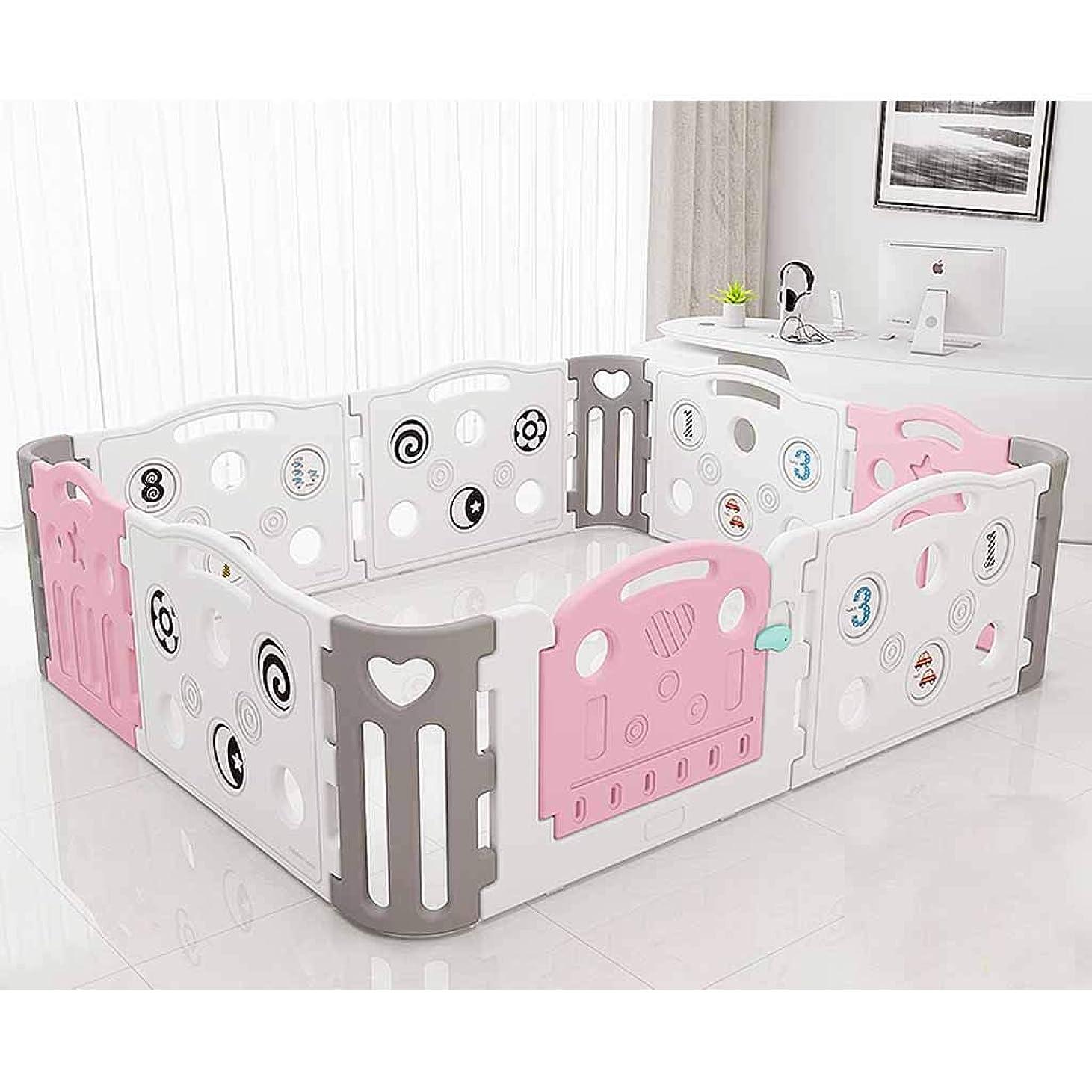 血まみれのタール思い出させるフェンス子供のゲーム屋内遊園地赤ちゃんクロールマット赤ちゃんの家庭の安全幼児ガードレールのおもちゃのフェンス SHWSM (Color : Pink)
