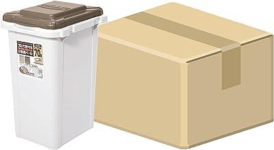 (ケース販売) 日本製 ジョイント式 ゴミ箱 ビスダボ 70L ライトブラウン 6個入り 071705