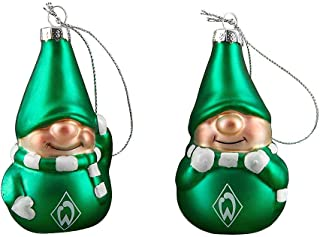 Werder Bremen Weihnachtskugeln, Christbaumschmuck 2er-Set 21-83024