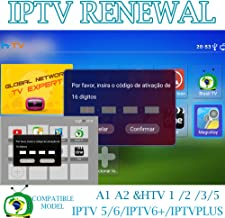 Brazil Brazilian TV Box Renew Code, Activation Code for A1/A2/ HTV/IPTV 5/6,Subscription 16-Digit Renew Code,One Year with Extra 1 Month Subscription Service,TV Box Brazil Code