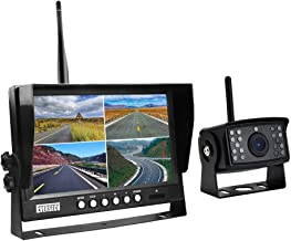 $149 » EVERSECU Digital HD 1080P Wireless Car Backup Camera with 9 inch Wireless 4ch Quad Display Monitor/Car DVR/Dash Monitor/Ve...