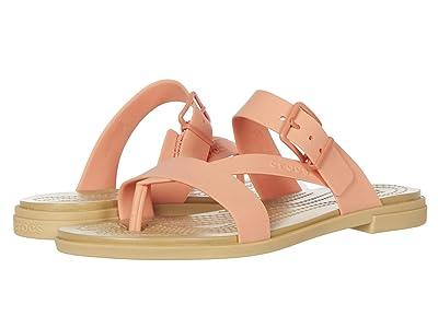 Crocs Tulum Toe Post Sandal (Grapefruit/Tan) Women