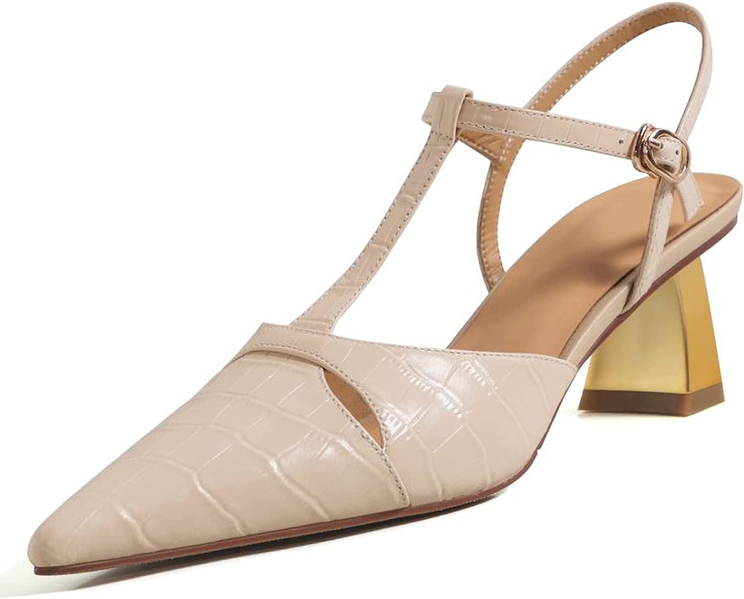 Max 56% OFF KJHKT Women's Max 74% OFF Closed Pointed Toe Sum Backless High Sandals Heels