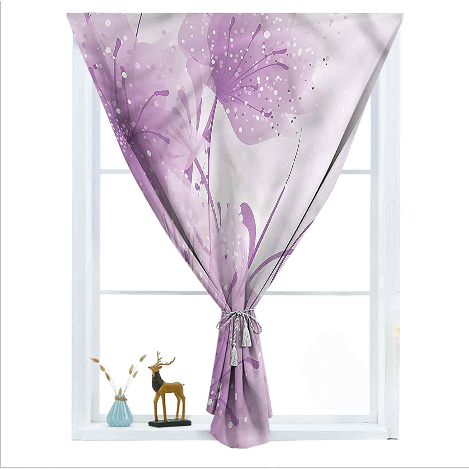 ousente Purple Genuine Free Shipping Decorative Blackout Vector OFFicial shop Door Curtains Window