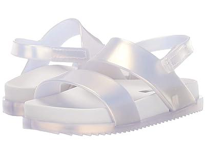 Mini Melissa Mini Cosmic Sandal (Toddler/Little Kid) (White Pearl) Girls Shoes