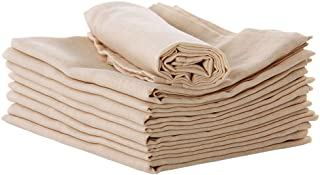 Natural Organic Cotton Baby Nappies Handkerchiefs Wipes Unbleached Hypoallergenic Baby Diapers Bibs Washcloths Towels Napkin (Colored Cotton)