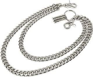 newtro Doubleness Layer Wallet Chain Trucker Jean Pants Chain for Men Puck Hip-Hop Biker Key Silver Black Gold DU02
