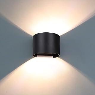 LED lampade muro esterno terrazza balcone cortile casa porta illuminazione vialetto grigio