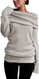 Best off the shoulder fold over sweater Reviews