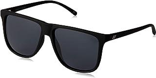 LE SPECS Unisex Radar LSP1902142 Polarized Wayfarer Sunglasses,Black Rubber,56 mm