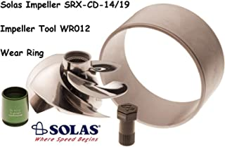 SOLAS SeaDoo Impeller W/Wear Ring & Tool SRX-CD-14/19 RXTX 255 RXT RXP Wake 215