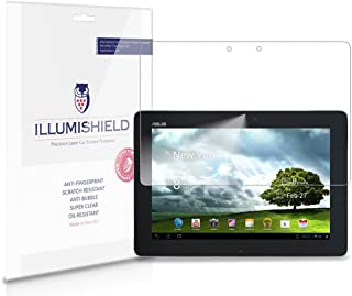 iLLumiShield Screen Protector Compatible with ASUS Eee Pad Transformer Prime 10.1 inch (TF201)(2-Pack) Clear HD Shield Anti-Bubble and Anti-Fingerprint PET Film
